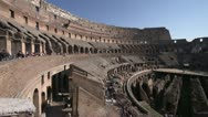 Stock Video Footage of Roman Colosseum inside wide shot
