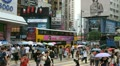 Hong Kong Crowds Rush Hour Shopping Area, Crowded Street, Car, Bus Traffic Footage