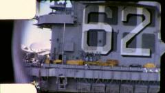 AIRCRAFT CARRIER 1970 (Vintage Old Film Amateur Home Movie) 5586 Stock Footage