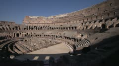 Stock Video Footage of History & culture, Roman Colosseum inside, wide angle
