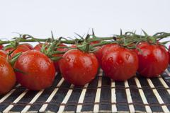 Stock Photo of fresh cherry tomatoes on the branch