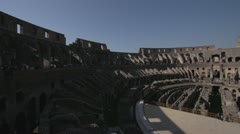 History & culture, Roman Colosseum inside pan, wide shot - stock footage