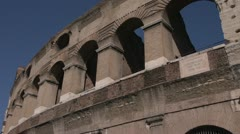 History & culture, Roman Colosseum outer walls angle detail Stock Footage
