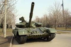tank on the street - stock photo