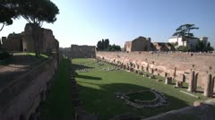 History & culture, Rome, Palatine hill ruins Stock Footage