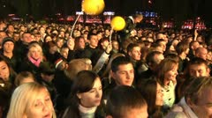 Crowd of fans at a concert 4 Stock Footage