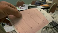 Stock Video Footage of Patient EKG Results