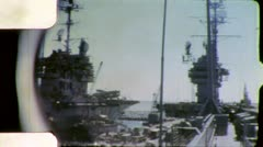 Sailors Flight Deck AIRCRAFT CARRIER 1970 (Vintage Film Amateur Home Movie) 5592 Stock Footage