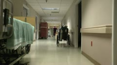 Assisted Living Center Hallways ED Stock Footage