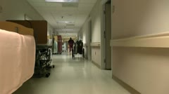 Elderly Care Hallways Time Lapse ED Stock Footage