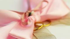 Wedding accessories rotate closeup Stock Footage