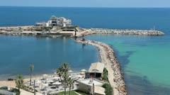 Sea bay in Mediterranean Sea Stock Footage