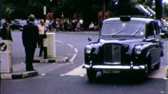 Busy LONDON Taxi Cab Street Scene ENGLAND 1970s Vintage Film Home Movie 5598 Stock Footage