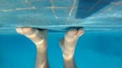 Underwater man feet moving HD 0083 Stock Footage