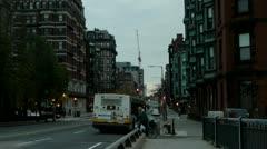 City Street Camera Tilt Up Stock Footage