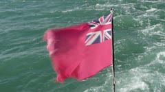 Red Ensign Stock Footage