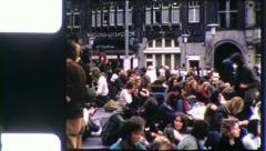WAR Monument Dam Square Amsterdam 1970s (Vintage Film Home Movie) 5602 Stock Footage