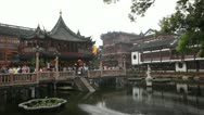 Yuyuan Garden,Yu Yuan Park, Old town in Shanghai, China, Tourists, time lapse Stock Footage