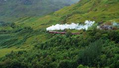 Pictorial steam train in scotland Stock Photos