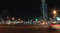 Amanecer plaza italia Stock Footage