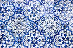 portuguese tiles, azulejos - stock photo