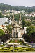 cathedral, guimaraes - stock photo