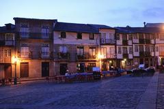 guimaraes at night, portugal - stock photo