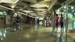 Subjetiva en pasillo metro Stock Footage
