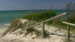 Beach Access on Darss Peninsula - Baltic Sea, Northern Germany Stock Footage