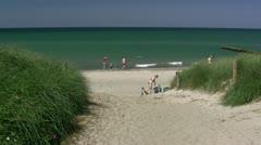 Beautiful Beach in Ahrenshoop on Darss Peninsula - Baltic Sea, Germany - stock footage