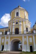 gate of monastery - stock photo