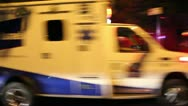 Ambulance at night Stock Footage