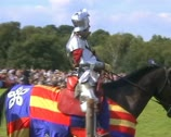 Knight ready for tournament Stock Footage