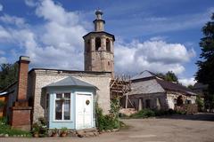 tower in monastery - stock photo