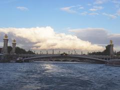 Alexandre iii bridge  in paris, france europe Stock Photos