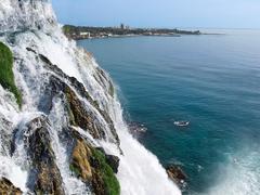Waterfall duden at antalya Stock Photos