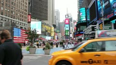 Busy day at the big apple - stock footage