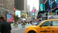 Stock Video Footage of Busy day at the big apple