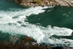 Rapids at the Niagara Whirlpool NTSC Stock Footage