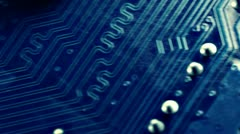 Technology circuit scrolling diagonally - stock footage