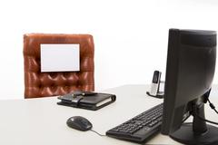 Available  executive desk Stock Photos