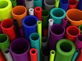 Stock Photo of colorful plastic pipes