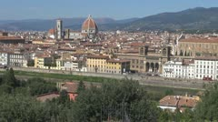Florence .Aerial View.Cathedral Sant Mary Stock Footage