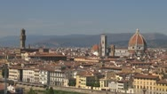Stock Video Footage of Florence .Aerial View.Cathedral Sant Mary