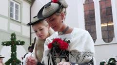 Germany, Bavaria, Leonhardi parade - stock footage