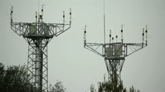 Stock Video Footage of Radio antennas on a cloudy day