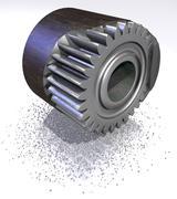 shaving a steel (constitution concept) - stock illustration