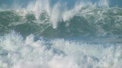 Ocean very big wave Stock Footage