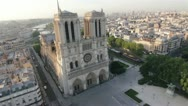 Stock Video Footage of The famous Notre Dame Cathedral in Paris by HeliDog_Aerials