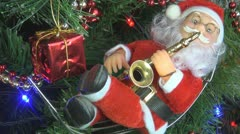 Santa Claus in the Christmas Tree, Xmas Time Stock Footage